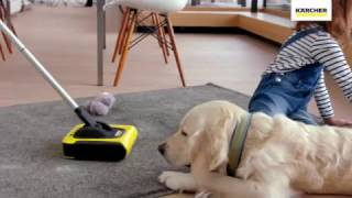 Dog hair and messy kids vs. Karcher KB5 Cordless Sweeper