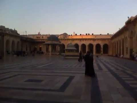 Peaceful Evening at Aleppo Mosque, before the conflict
