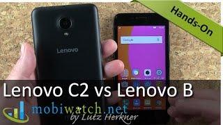 Lenovo C2 vs Lenovo B: Cheap Phones Comparison   Hands-on Video Review