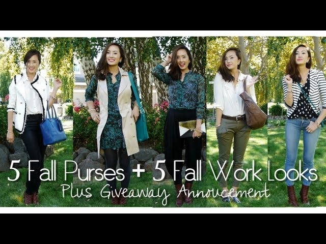 5 Fall Purses, 5 Fall Work Looks + Giveaway