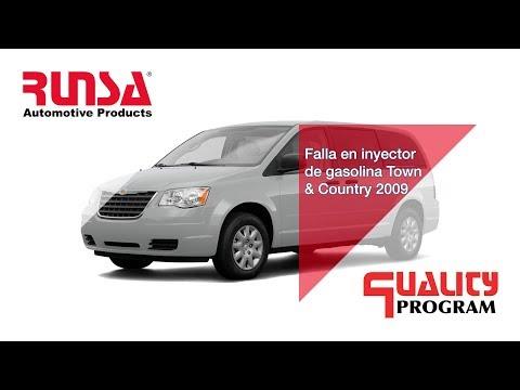 Falla en inyector de gasolina town & country 2009