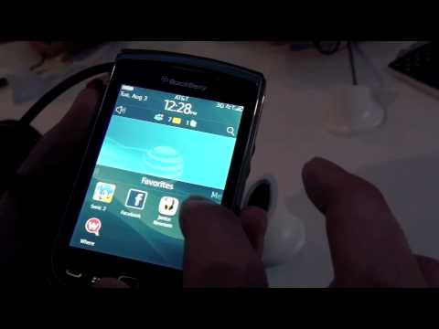 BlackBerry Torch 9800 Video First Look!