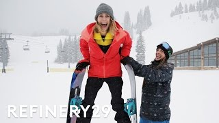 I Trained Like A Professional Snowboarder Lucie For Hire Refinery29