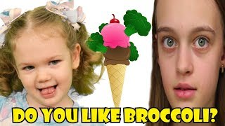 Do You Like Broccoli Ice Cream | Super Simple Song Nursery Rhyme with Elya TV