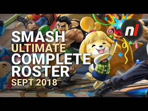 Super Smash Bros. Ultimate Complete Character Roster (So Far)