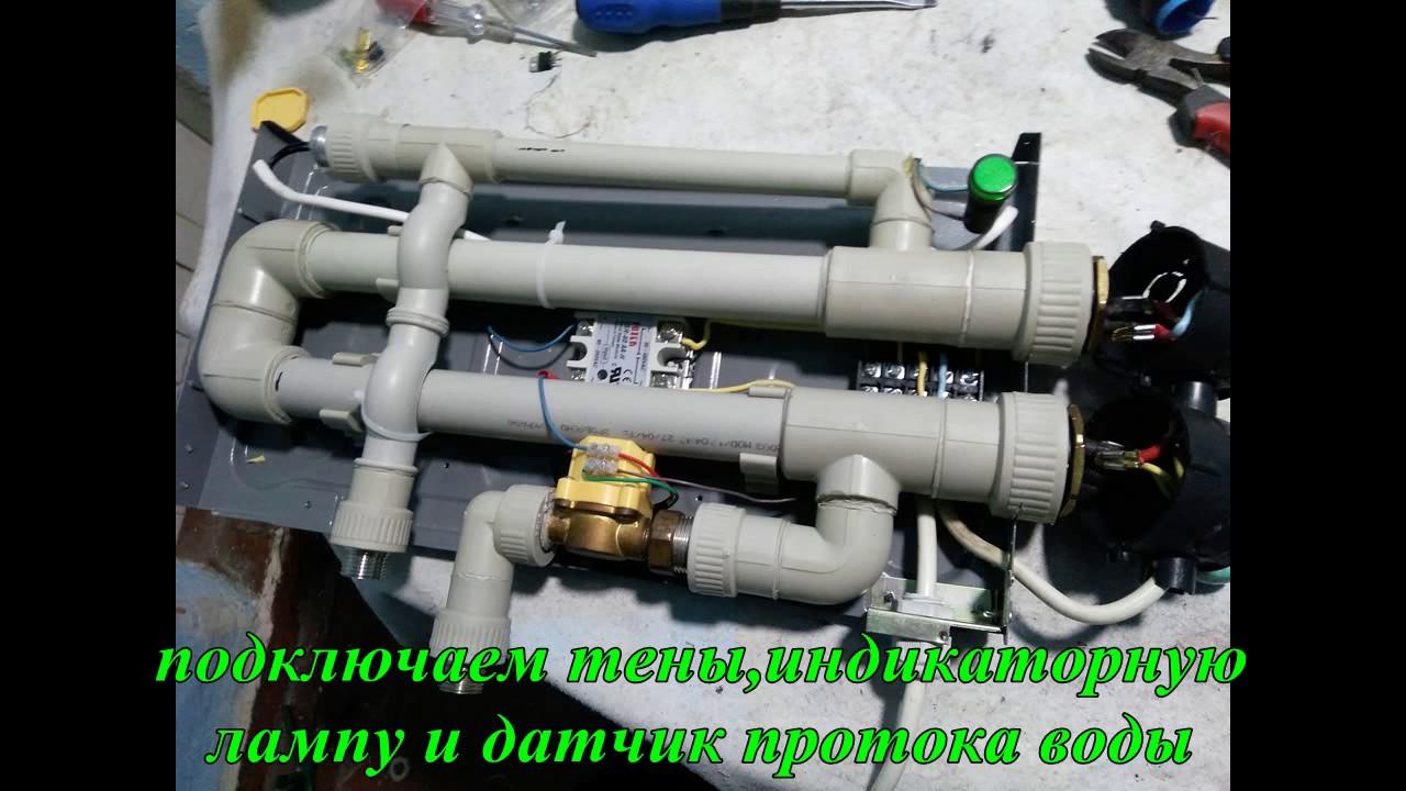 Сделать проточный водонагреватель электрический своими руками 35