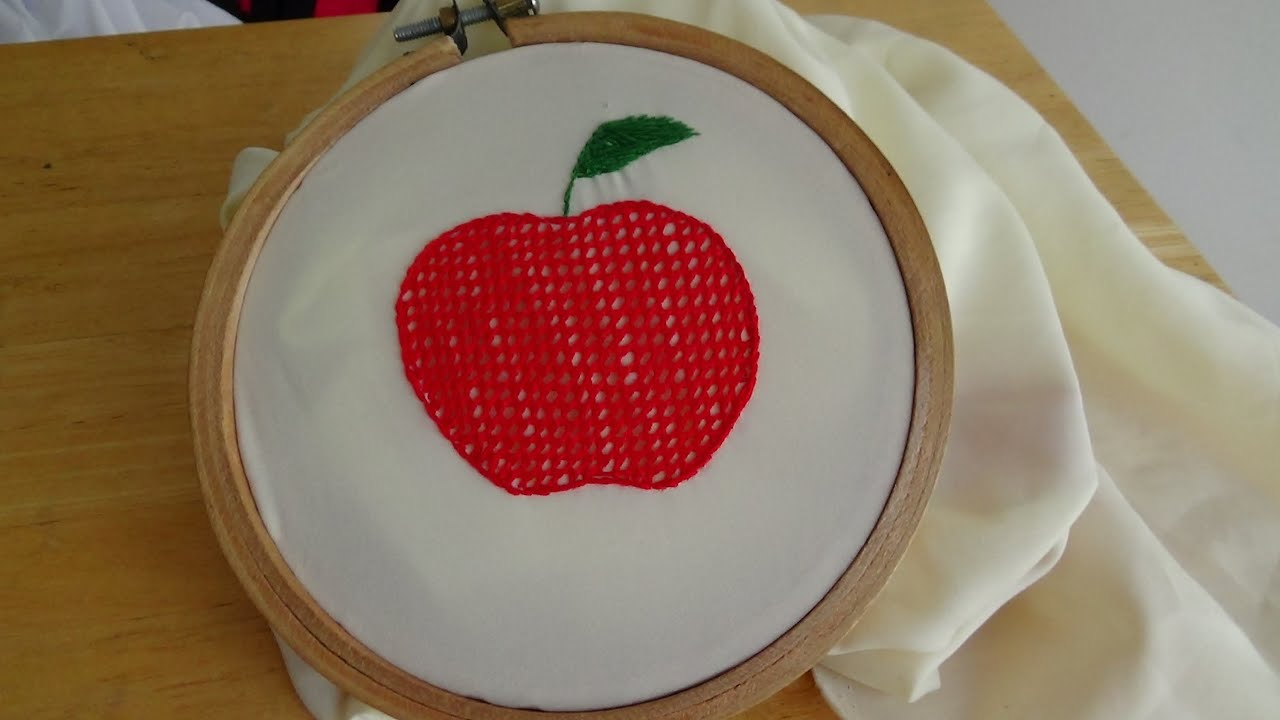 Hand Embroidery Net Stitch  YouTube