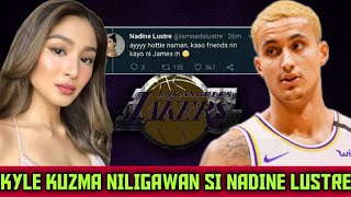 NADINE LUSTRE nililigawan ng NBA STAR, Sweet message ni Kyle Kuzma.