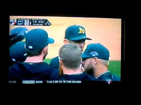 Detroit Tigers Oakland A's ALDS Shouting Match Grant Balfour Victor Martinez Warning-Strong Language