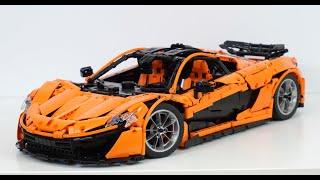 Lego Technic MOC McLaren P1 hypercar 1:8 - w/ manual + RC instructions