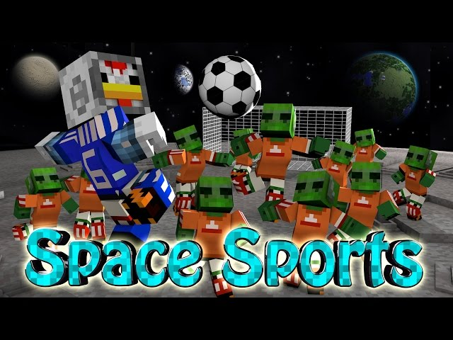 Minecraft | SPACE FOOTBALL CHALLENGE - Space vs Soccer! (Sports Mod)