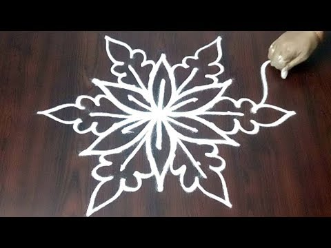 New Easy Peacock Rangoli Design  || Beginners Peacock Design 5 x 3 || Fashion World
