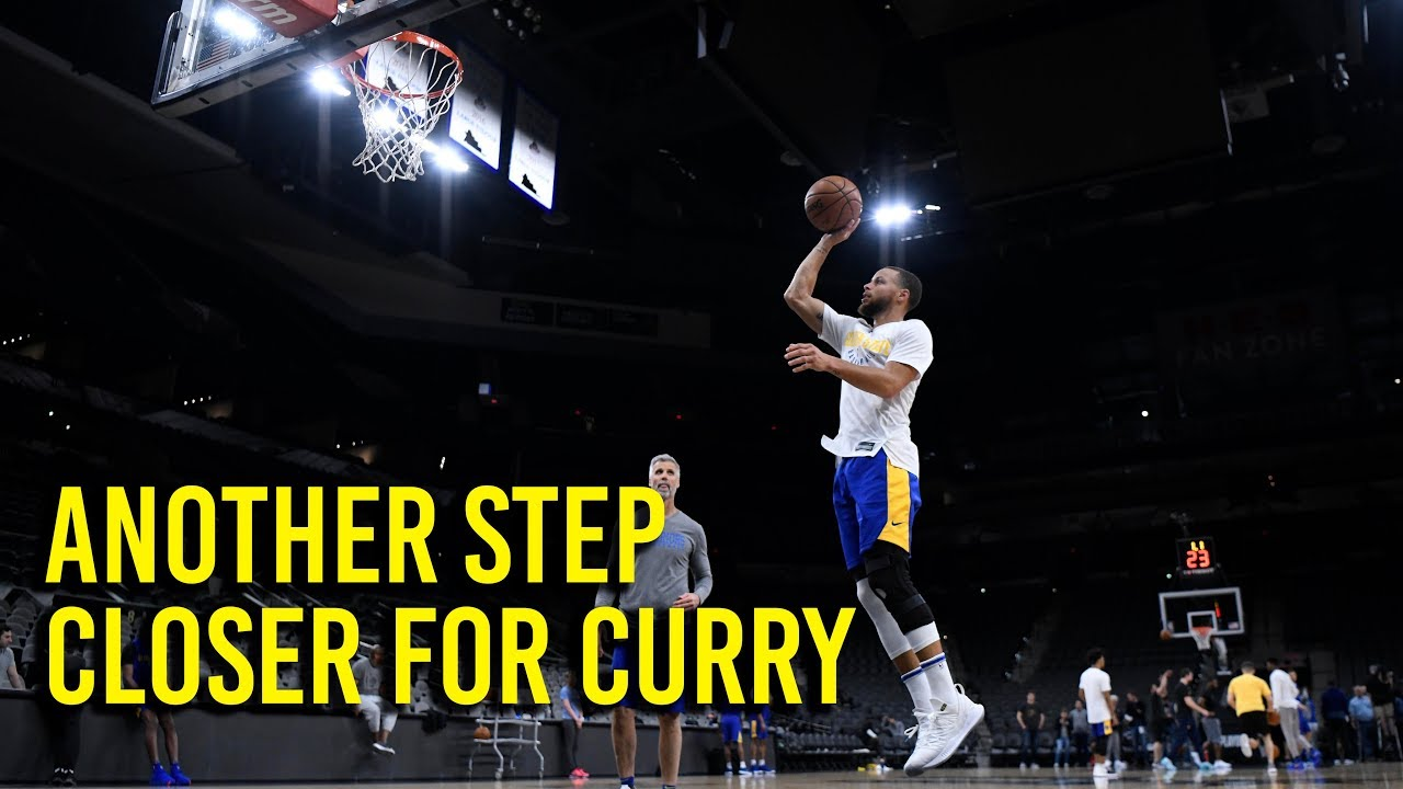 Stephen Curry alert! All-star guard shooting at practice