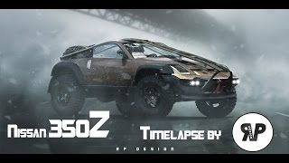 "Nissan 350z ""Off- road"" Timelapse by RP. DESIGN [Virtual Tuning]"