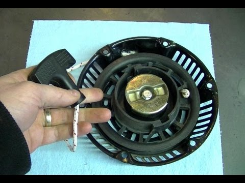 How To Generator Pull Cord Repair Youtube