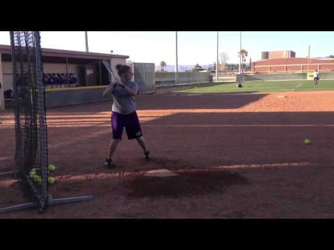 Hannah Rost Eastern Arizona College hitting video