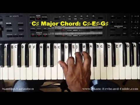How to Play the C Sharp Major Chord - C# - on Piano and Keyboard