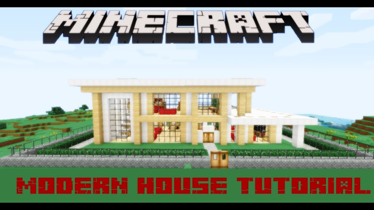Minecraft modern house tutorial youtube for Modern house tutorial