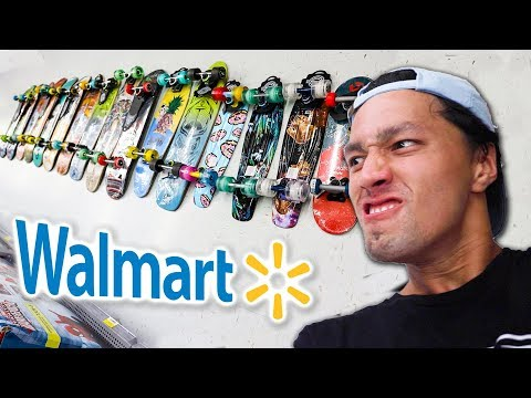KICKFLIP EVERY BOARD IN WALMART!!