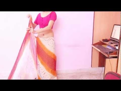 How To Wear Chundri Print Saree Blouse-saree blouse petticoat underskirt video