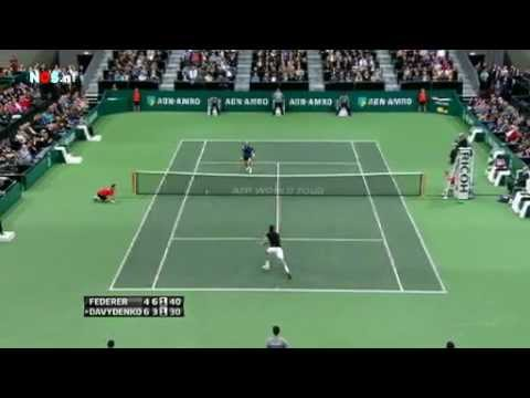 Federer VS Davydenko Rotterdam 2012 Semifinals Highlights ABN AMRO WTT