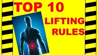 Back Safety - Top 10 Lifting Rules - Avoid Back & Spine Injuries, Safety Training Video