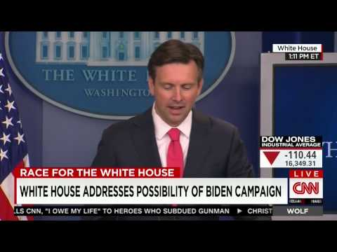Earnest trapped by ABC reporter on White House preference for Biden over Clinton