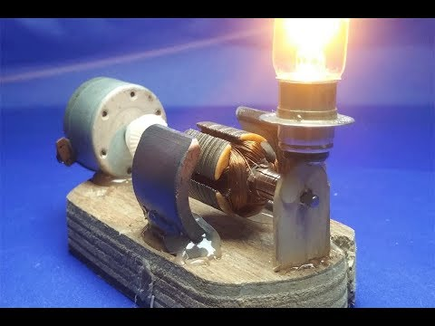 How to make electricity a free energy generator dc motor - Experiment new idea 2018