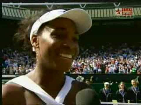 Wimbledon 2008 Venus William Speech after Victory