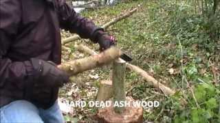 ESEE 6 SURVIVAL KNIFE WOOD CUTTING AND BATONING DEMO