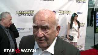 Edward Asner red carpet interview at