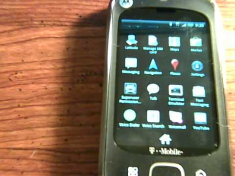 Motorola CliqXT (Motorola Quench) Running Android 2.1 with Barely BlurredXT Beta1