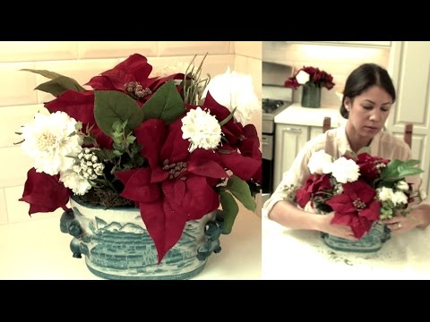 Faux Flower Holiday Arrangements