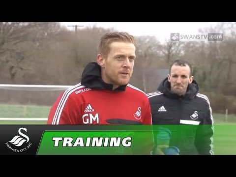 Swansea City Video: Garry Monk's first day in charge