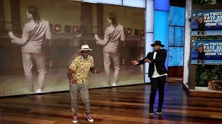 Taye Diggs and tWitch Play 'Can tWitch and Taye Diggs Dance... with What's Behind Them?'
