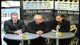KalPa-Ilves ottelun lehdistötilaisuus 25.10.2011