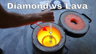 Dropping a Real Diamond In Molten Lava—Will it Survive?