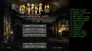 "Diablo 2 - A couple of ""Key-hunt"" runs with Self Found Single player Lightning Sorc"