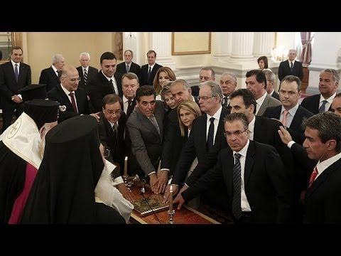 Greece: New government sworn in but it's business as usual