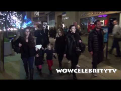 Kourtney Kardashian walks around LA at night with her Kid