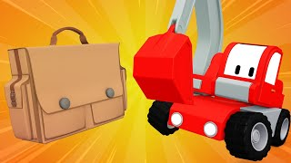 Tiny Trucks - Memories for Charlie - Cartoons with Street Vehicles Bulldozer, Excavator & Crane