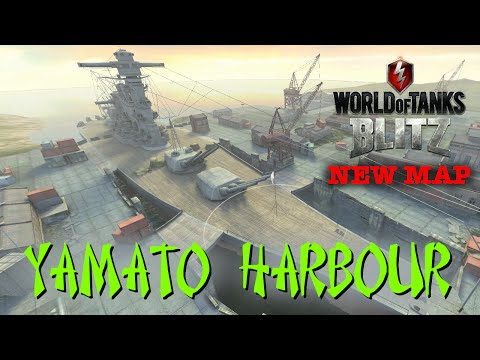 World of Tanks BLITZ - NEW MAP PREVIEW - Yamato Harbour!!