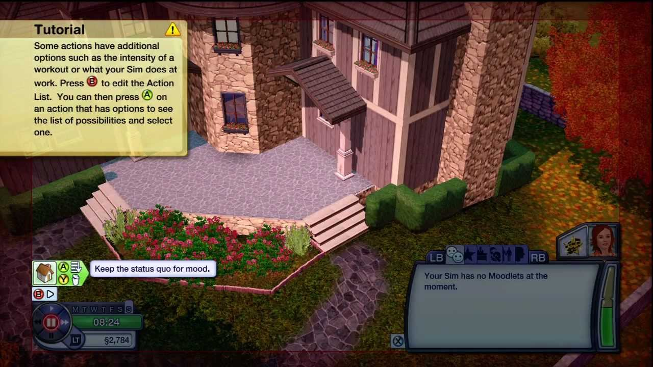 The sims 3 pets xbox 360 all possible houses to buy hd for Home design xbox