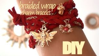DIY Fashion ♥ Braided Wrap Charm Bracelet