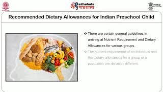 Nutritional requirements & Supplementatory Foods for Preschool Children