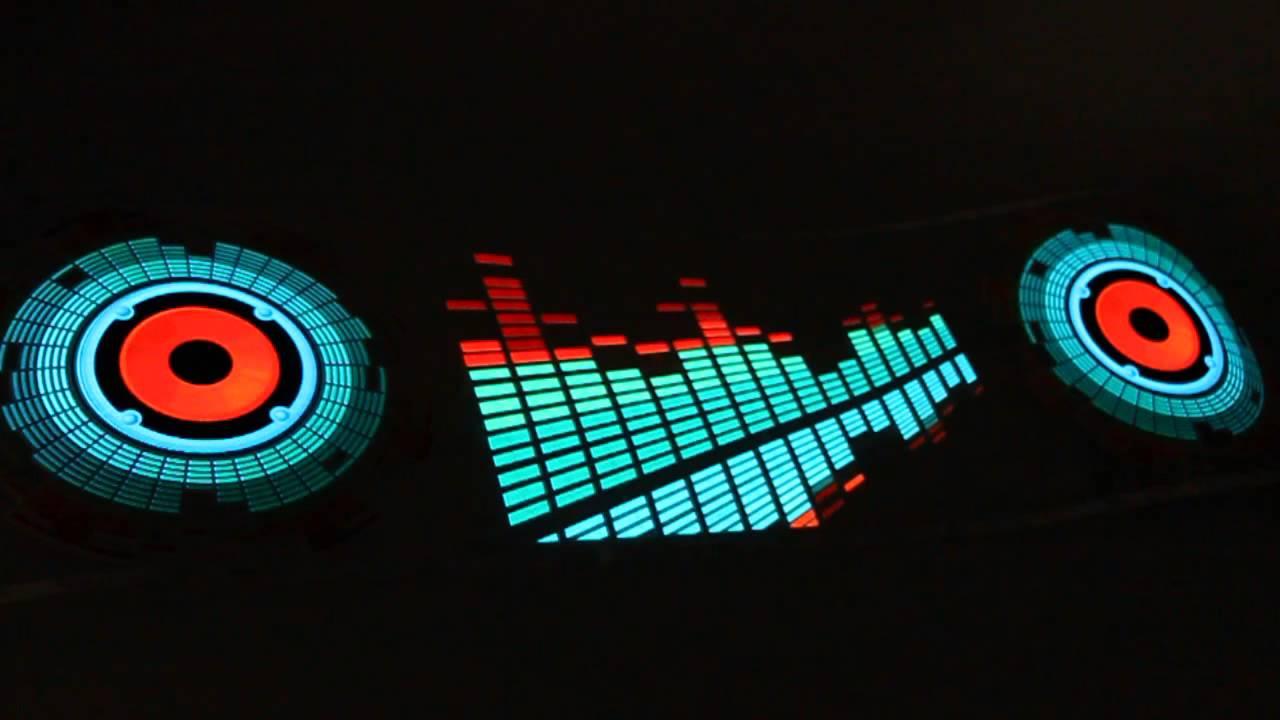 90x25cm Car Sticker Music Rhythm LED Lights Lamp Sound