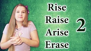 №86 English vocabulary: rise, raise, arise, erase 2 - what