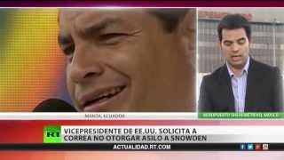 """Correa: Biden me pidió """"por favor"""" rechazar la solicitud de asilo de Snowden"""