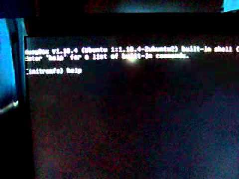 UBUNTU 11.04 (11.10 po aktualizacji) -BusyBox v1.18.4 Initramfs - problem