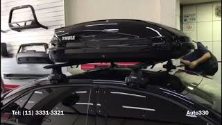 Audi A3 - Bagageiro Thule Pacífic 100 - Rack e Bagageiro Thule Audi A3 - Auto330 Acessórios